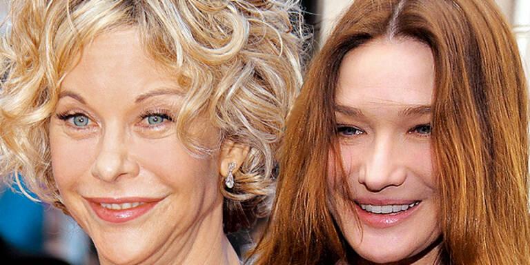 Meg Ryan Carla Bruni Botox