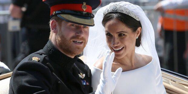 Erste Worte als Ehemann: Harry begeistert mit Rede