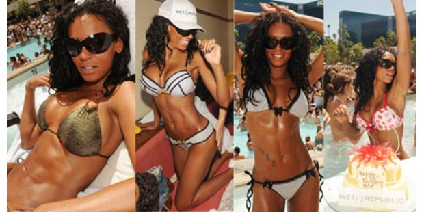 Mel B feierte Geburtstag in vier Bikinis