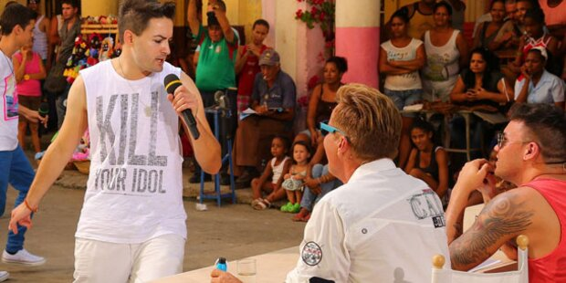 DSDS: Menderes blamiert sich auf Kuba