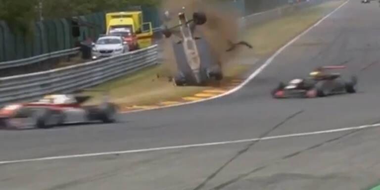 Horror-Crash überschattet Spa-GP