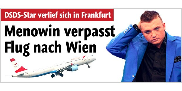 Autsch! Menowin verpasst Wien-Flug