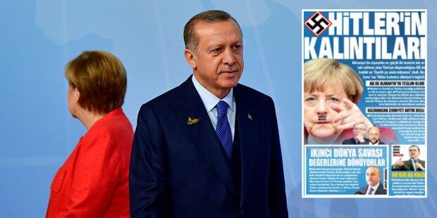 Türkische Zeitung stellt Merkel als Hitler dar