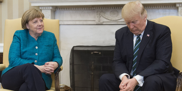 Merkel Trump Oval Office