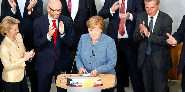 Merkel will weitermachen: Wahlziele erreicht