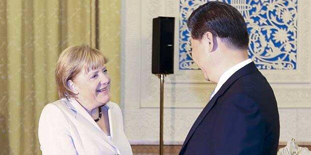 Merkel in China für freien Journalismus