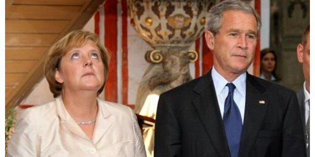 Merkel bei Bush in den USA