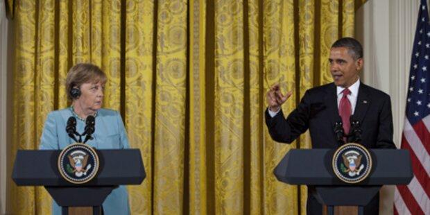 Obama und Merkel: