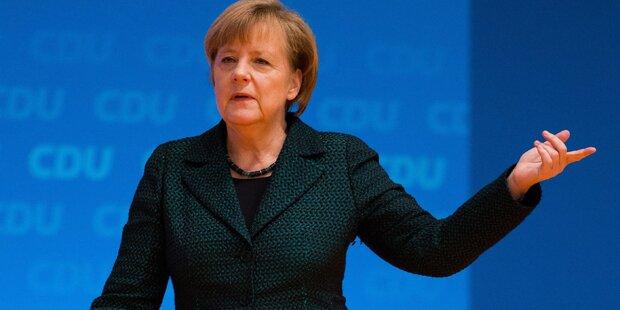 Merkel mit 96,7 % wieder CDU-Chefin