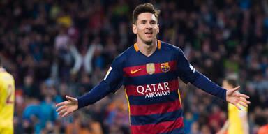 """Messi trifft gegen """"Torwart-Riesen"""""""