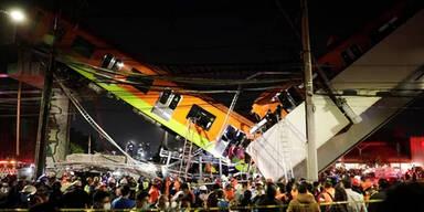 Schweres U-Bahn-Unglück in Mexiko-Stadt: Zahlreiche Tote