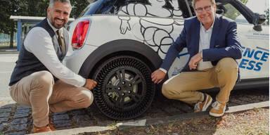 """Luftloser """"Wunder-Reifen"""" erstmals auf der Straße"""