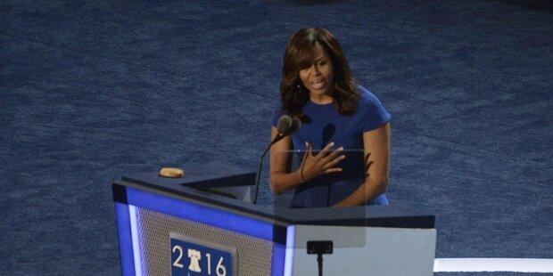 Michelle Obama hält Tränen-Rede für Clinton