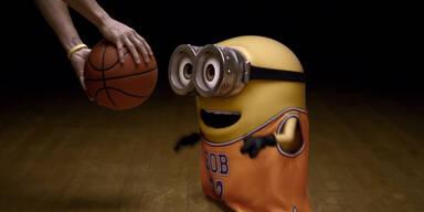 Minions als Basketball-Profis