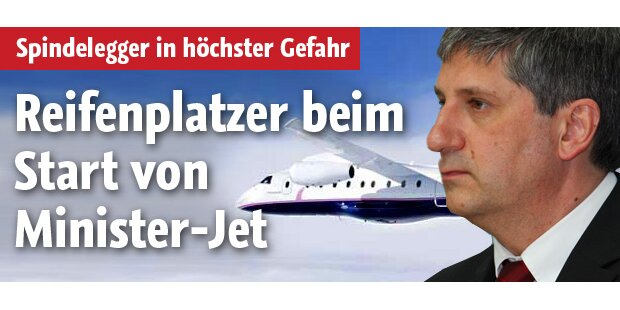 Reifenplatzer im Spindelegger-Jet