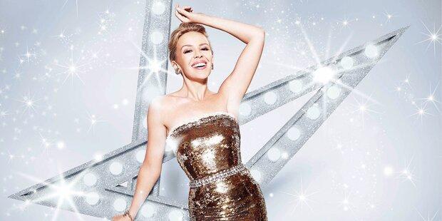 Kylie Minogue strahlt bei Glock-Gala