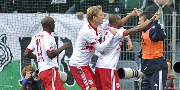 Meister Salzburg feierte wichtigen Sieg bei Rapid