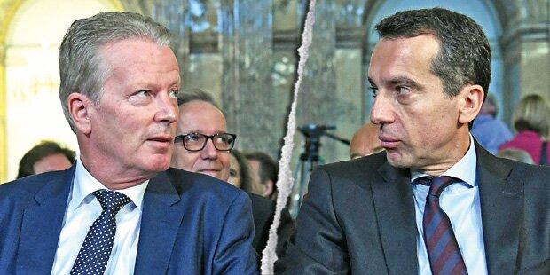 Mega-Konfliktniveau bei SPÖ und ÖVP