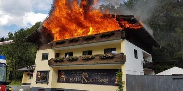 Großer Dachstuhlbrand