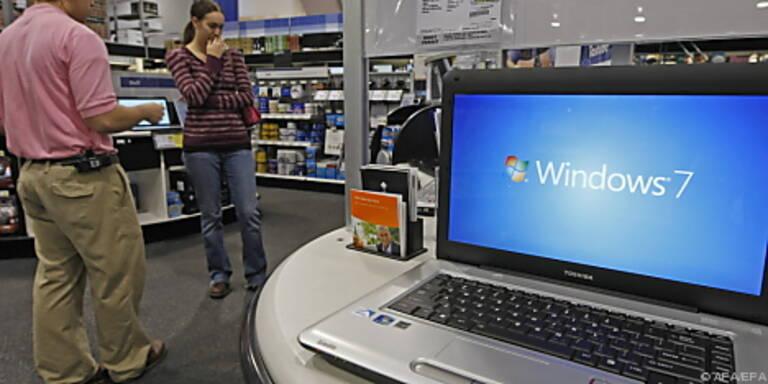Mittlerweile wenden Geschäftskunden Windows 7 an
