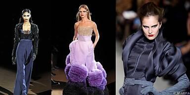 Modelle von Givenchy (il,mi.) und Rolland (re,)
