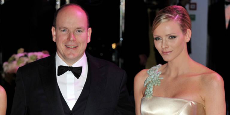 Monaco-Rosenball - Fürst Albert II und Charlene Wittstock
