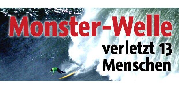 Monster-Welle verletzt 13 Menschen