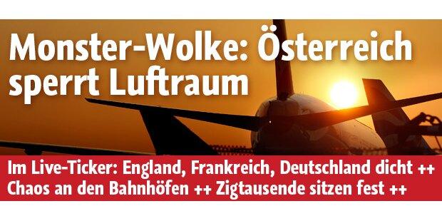 Österreichischer Luftraum ist gesperrt