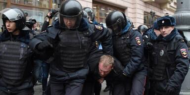 Moskau Proteste Festnahmen