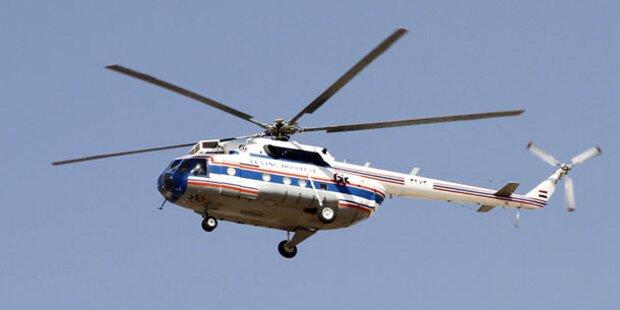 Hubschrauber hob ohne Pilot ab