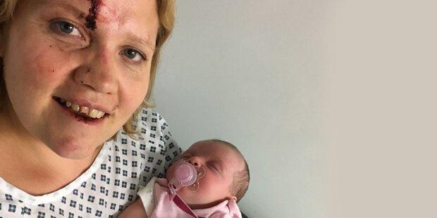 Autodiebe fahren mit vier Wochen altem Baby davon