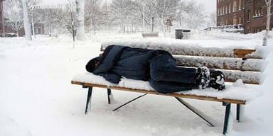 Obdachloser erfiert in Hütteldorf