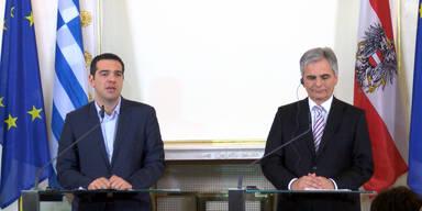 Faymann trifft Griechen-Premier Tsipras