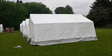 Zeltstädte für Flüchtlinge