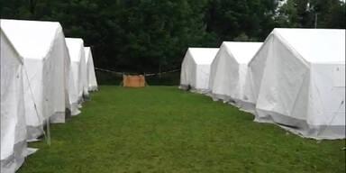 Mikl-Leitner lässt weitere Zelte aufstellen