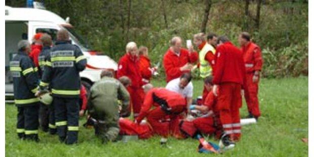 Unfall in OÖ forderte fünf Schwerverletzte