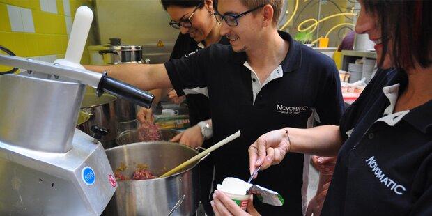Mitarbeiter von Novomatic kochen freiwillig