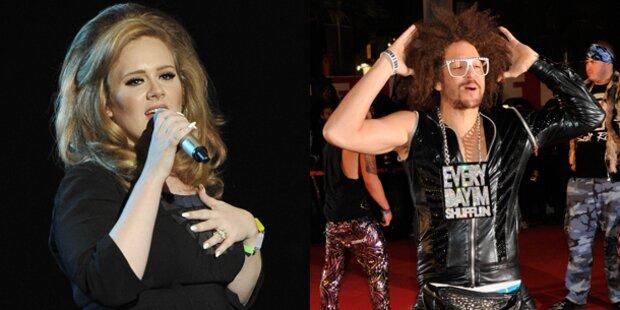 LMFAO und Adele große Sieger