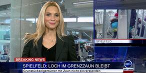 News TV: Loch im Grenzzaun bleibt