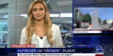 """News TV: Aufreger um """"Grünen""""-Plakat"""