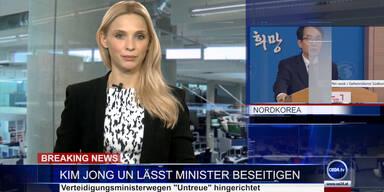 News TV: Kim Jong Un lässt Minister beseitigen
