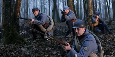 Nachstellung der Schlacht um Verdun