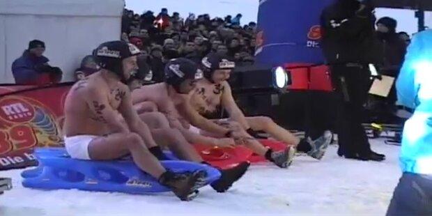Nackte Haut bei der 4. Nacktrodel WM