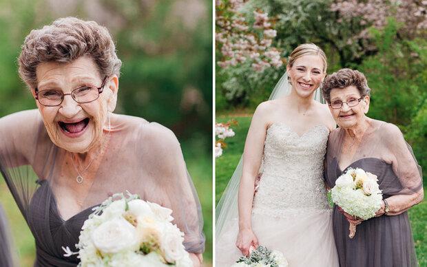 Sie ist die älteste Brautjungfer der Welt!