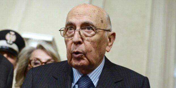 Italiens Präsident kündigt Rücktritt an