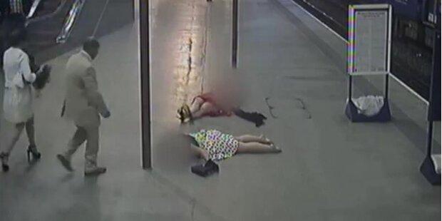 So gefährlich sind High-Heels in U-Bahn