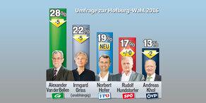 Hofburg-Umfrage: Hofer rollt Feld auf