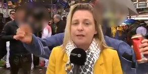 Sexuelle Belästigung live auf Sendung