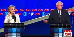 Heftiges TV-Duell: Clinton vs. Sanders