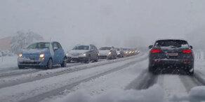 Schnee-Chaos im April